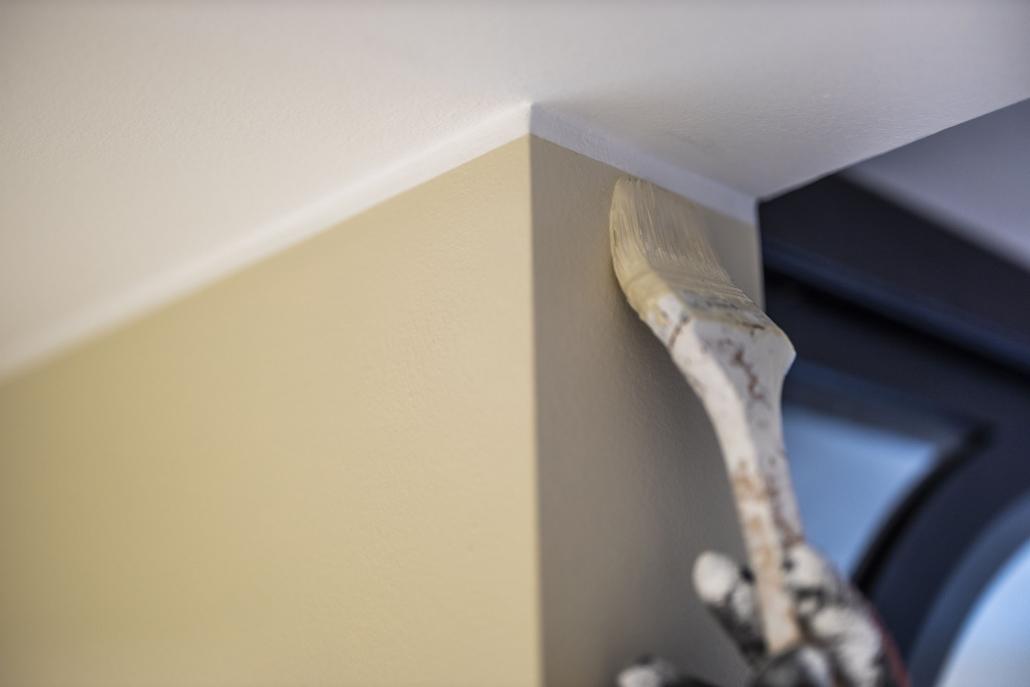 Detalje arbejde tæt på loftet
