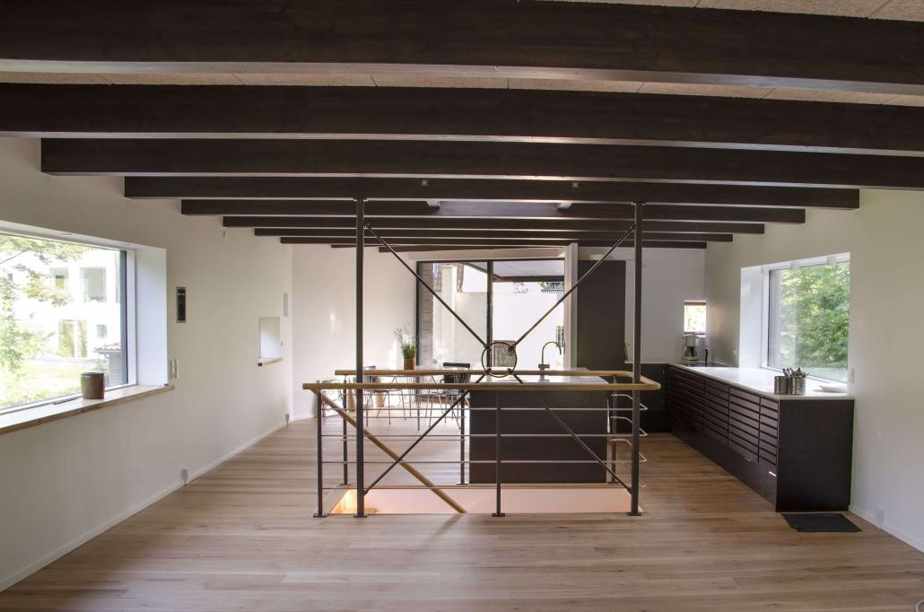 Elegant moderne køkkenalrum