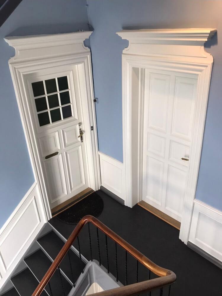Trappeopgang set fra toppen